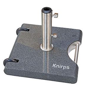 Knirps Oasis Trolley-Granitsockel 40 KG hochglanzpoliert mit Edelstahlrohr und 2 Rollen