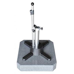 Granitständer LiRo Mini 50 dunkelgrau mit flexibler Klemmung