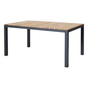 Mood Extreme Tisch 167x100cm rechteckig anthrazit Aluminium pulverbeschichtet mit Teaktischplatte