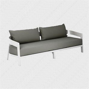 Auflagenset für Vento 3-Sitzer Sofa Sitz- u. Rückenkissen Sunproof 3-teilig