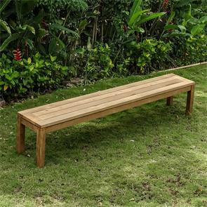 Dusun Gartenbank ohne Rückenlehne 214 cm Recycling Teak