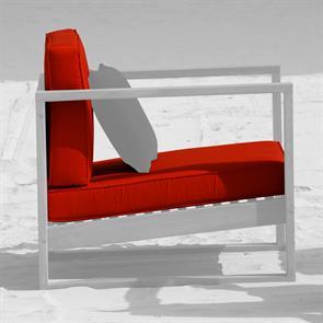 Cushion Set für Zafron 1-Sitzer Nagata 2-teilig 11 cm dick Sitz- u. Rückenkissen Nagata
