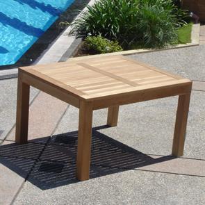 Hampton Esstisch 100 x 100 x 76,5cm - Teak mit 9x9 cm Tischbeinen mit Höhenverstellung