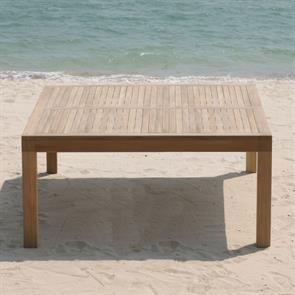 Hampton Esstisch 150 x 150 x 76,5cm Teak mit 9x9 cm Tischbeinen mit Höhenverstellung