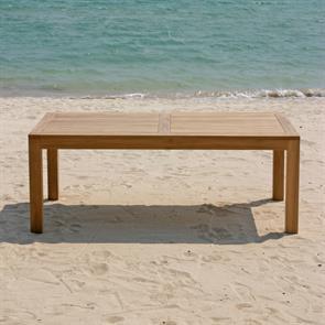 Hampton Esstisch 160 x 85 x 76,5cm Teak mit 9x9 cm Tischbeinen mit Höhenverstellung