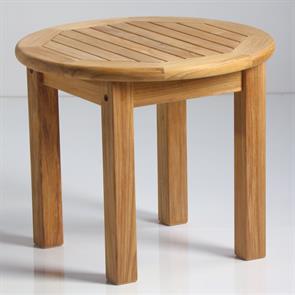 Briston Beistelltisch rund 54cm Teak mit 6x6 cm Tischbeinen