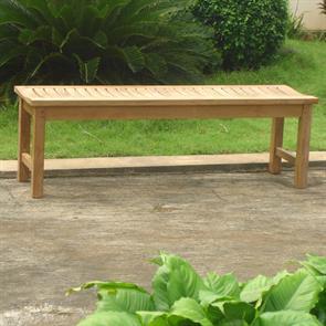 Elegance Gartenbank ohne Rückenlehne 140 cm Zertifiziertes Teakholz GRADE A
