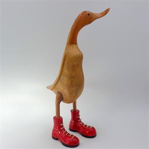Ente »Carmen« -gross braun aufrecht rote Schuhe
