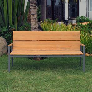 Fides Color Bank 180 Teak mit Aluminiumgestell  180x63x86,5cm