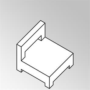 FLEXI Lounge Mittelmodul 95x82x65 cm Geflecht Lounge