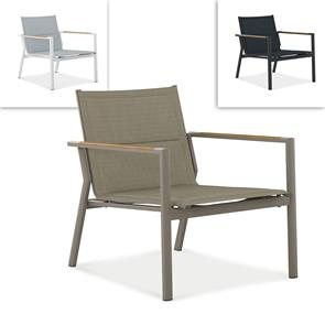 Gazelig Sessel 1 Sitzer  70 x 81,5 x 77 cm Aluminium und Batyline