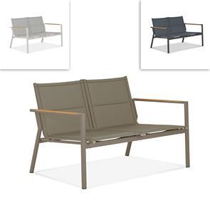 Gazelig Sofa 2 Sitzer  124,7 x 74,5 x 75 cm Aluminium und Batyline