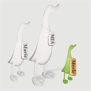 Ente »Merle« - klein grün aufrecht