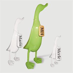 Ente »Mia« - gross grün aufrecht