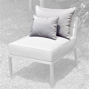 Makan Lounge Rückenkissen 65x40 + 40x30cm Sunproof für Mittelmodul (1 grosses + 1 kleines Kissen)