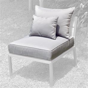Makan Polsterset Lounge  Mittelmodul SunProof 3-tlg.(1 Sitz-,1 grosses+ 1 kleines Rückenpolster)