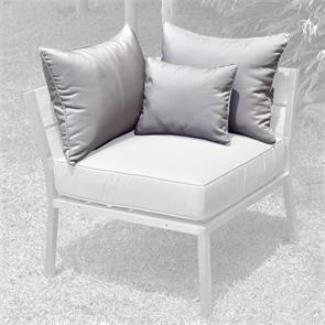 Makan Lounge Rückenkissen 65x40 + 40x30cm Sunproof für Eck-/Seitenmodul (2 grosse + 1 kleines Kissen)