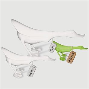 Ente »Natalie« - klein grün flacher Körper