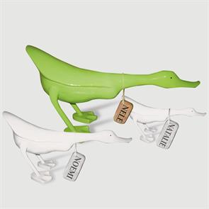 Ente »Nele« - gross grün flacher Körper