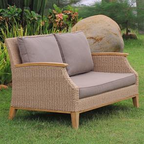Stokeham Sofa 2 Sitzer  137,5 x 91 x 86 cm Geflecht mit Teakholzbeinen