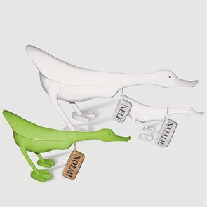 Ente »Noemi« - mittel grün flacher Körper