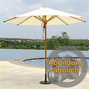 Sonnenschirm Ocean Deluxe 300cm rund Sunproof Teak mit Edelstahlbeschlägen und 3fach-Flaschenzug