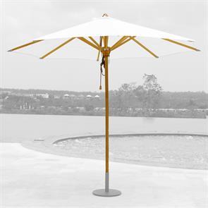 Schirmgestell 250 cm rund Ocean Parasol Deluxe Teak mit Edelstahlbeschlägen 2-facher Flaschenzug