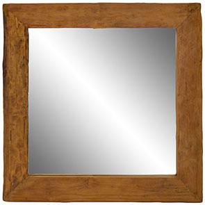 Spiegel mit Treibholzrahmen mittel 100x100cm