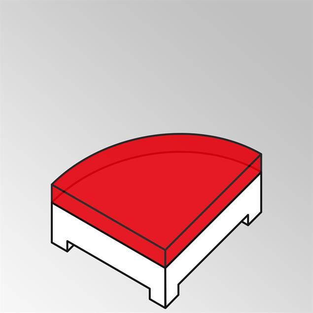 FLEXI Polster Beistelltisch Viertelkreis Nagata 13 cm dick  ohne Rückenkissen