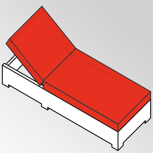 Liegenauflage Flexi Lounge Prestige 13 cm dick 207x69x13 cm Sunproof