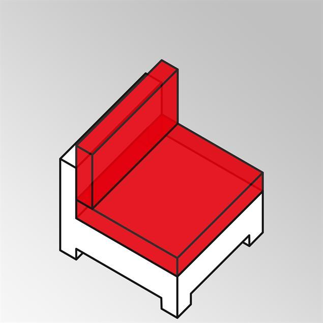 FLEXILounge Polsterset 2tlg Side/Corner/Midd Seat 13 cm dick Nagata auch für Middle Seater