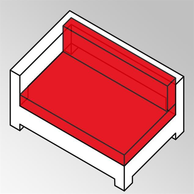 FLEXI Polsterset 2tlg Corner/Side Seat XL Sunproo 13 cm dick Sunproof auch für Side Seater