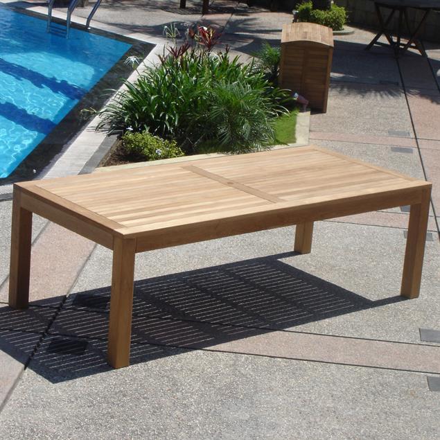 Hampton Esstisch 200 x 100 x 76,5 cm Teak mit 9x9cm Tischbeinen mit Höhenverstellung