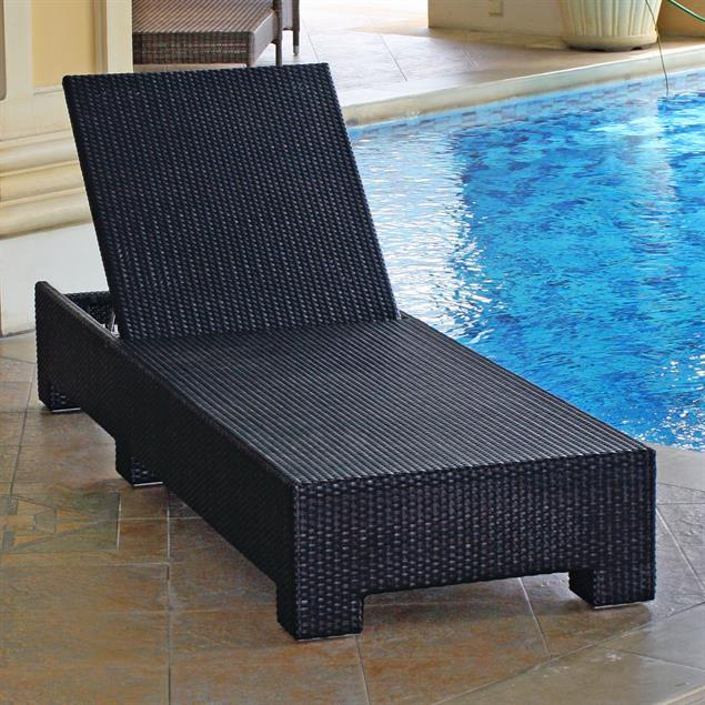FLEXI Lounge Liege 207x69x29 cm Geflecht Lounge