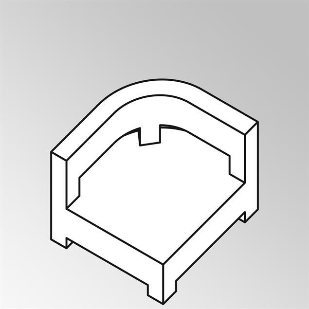 FLEXILounge Polsterset 2tlg Rundeckmodul Naga 13 cm dick Nagata für Rundeck