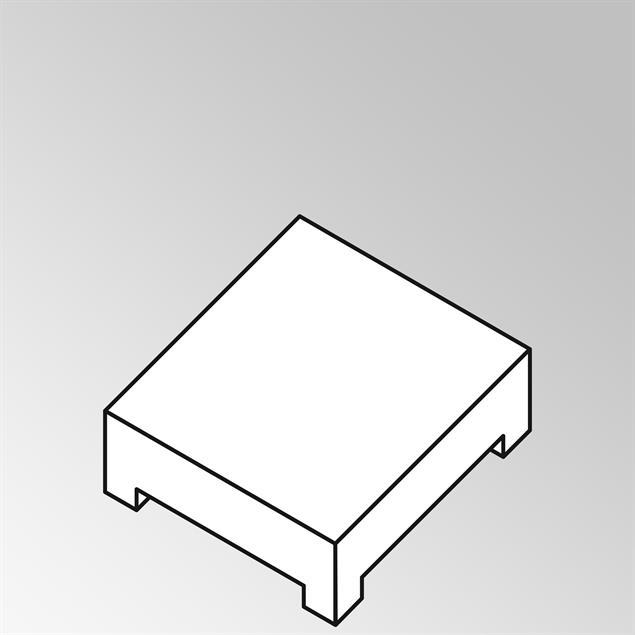 FLEXI Lounge Beistelltisch quadratisch gross 95x95x29 cm Geflecht Lounge