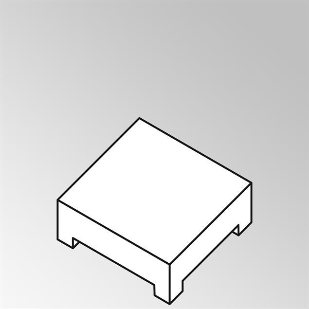 FLEXI Lounge Beistelltisch 95x82x29 cm Geflecht Lounge