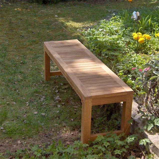 Hampton Gartenbank ohne Rückenlehne 150 cm Teak