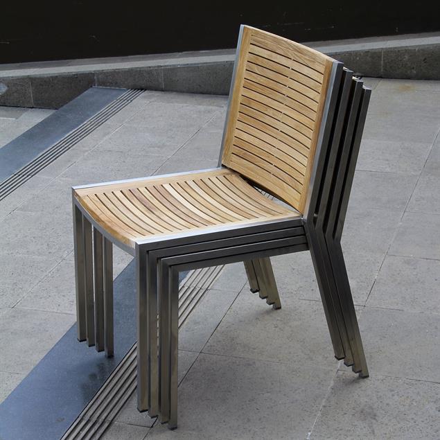 Tessin Stapelstuhl 49,5 x 58,5 x 82 cm
