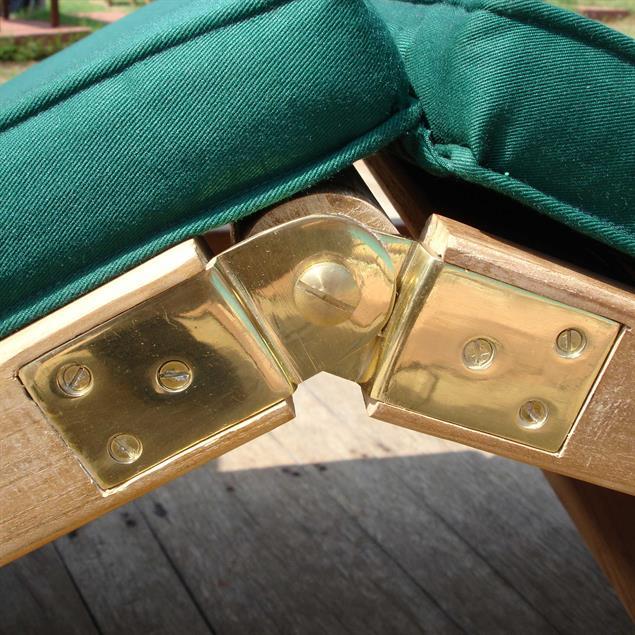 Hampton Liege 200 x 70 x 30 cm - Zertifiziertes Teakholz GRADE A + Messingbeschläge