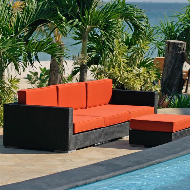 Oasis Lounge Seitensitz mit Armlehne links Geflecht Lounge