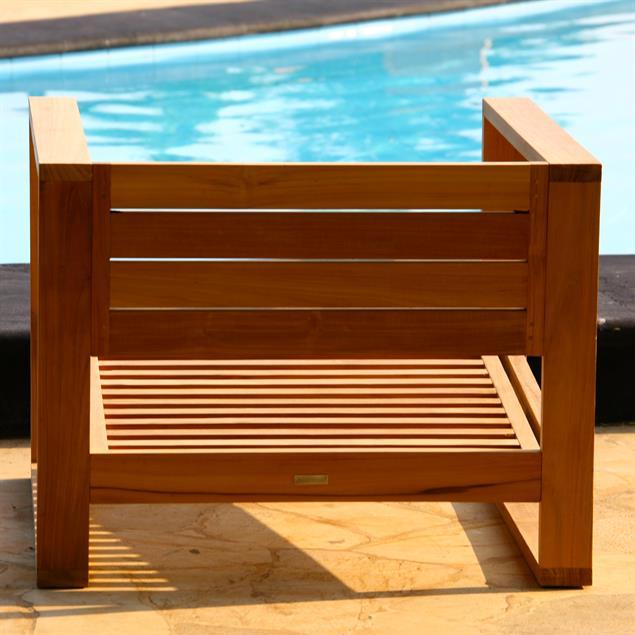 Zafron Sofa 1 Sitzer 86 x 84 x 66 cm Teak