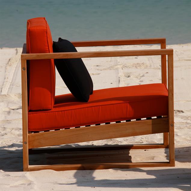 Polsterset für Zafron 1-Sitzer Nagata 2-teilig 11 cm dick Sitz- u. Rückenkissen Nagata
