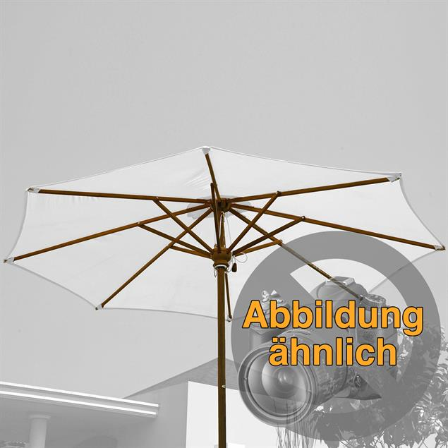 Schirmgestell 275 cm rund Teak Teak mit Messingbeschlägen