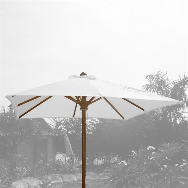Schirmgestell 350x250 cm rechteckig Teak Teak mit Messingbeschlägen