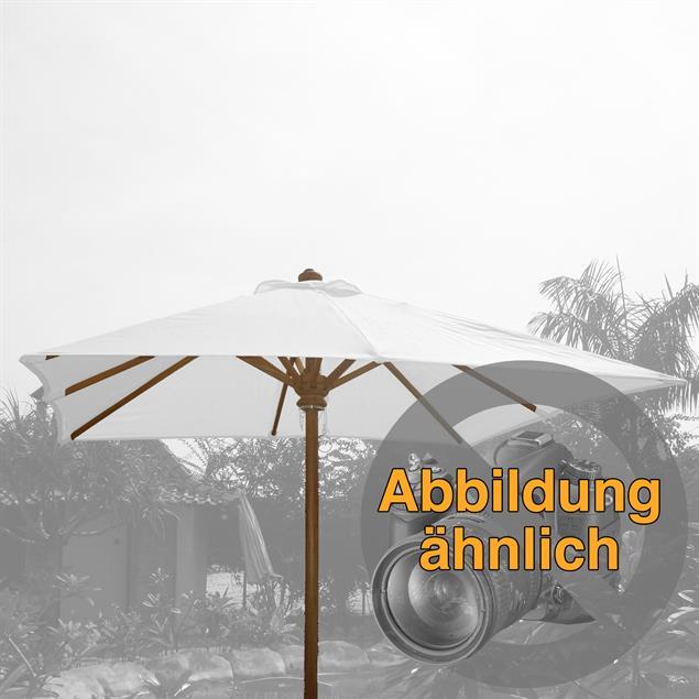 Schirmgestell 350x350 cm quadratisch Teak Teak mit Messingbeschlägen