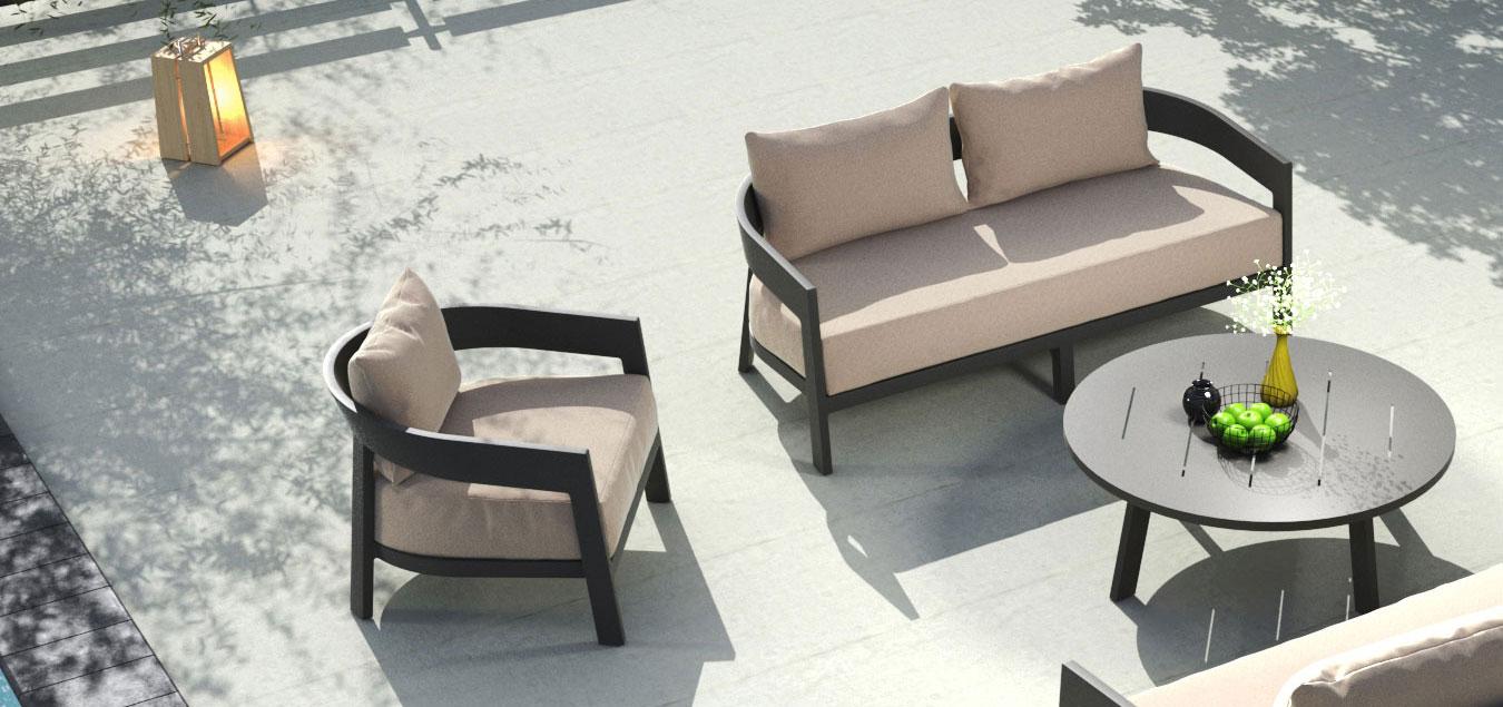 Vento Aluminium Sofa Kollektion