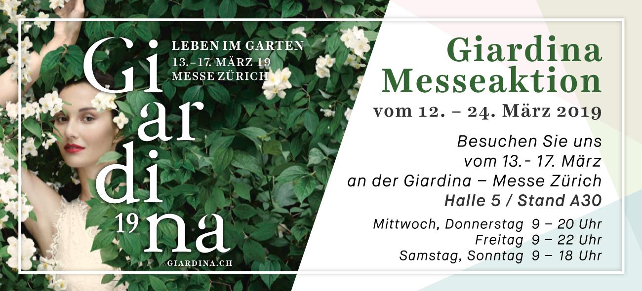 Die grosse HOMEofTEAK Giardina Messeaktion